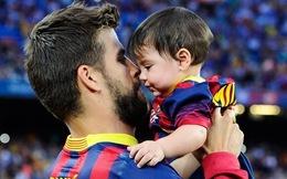 Bé Milan Pique theo mẹ Shakira đến cổ vũ bố đá bóng