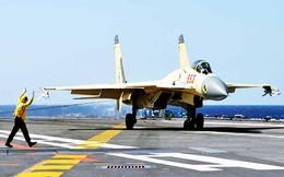 """Nhật coi thường J-15 mang vũ khí """"xịn"""" luyện trên Liêu Ninh"""