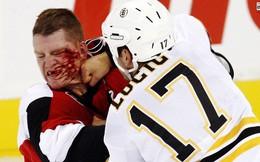 """Những """"cuộc chiến"""" đẫm máu trên sân băng Hockey"""