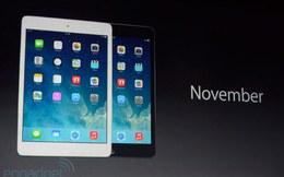 Apple công bố iPad mini 2 với màn hình Retina, giá từ 399 USD