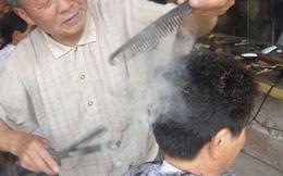 Trung Quốc: Rợn người kiểu cắt tóc bằng thanh sắt nung đỏ