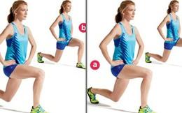 4 động tác + 15 phút = chân thon quyến rũ