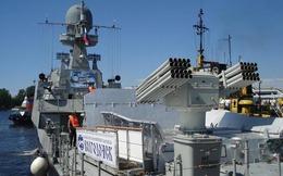 Pháo hạm tàng hình mới nhất Makhachkala gia nhập Hạm đội Caspian