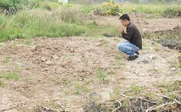 Đang tìm thi thể chị Huyền ở nghĩa trang Đặng Xá