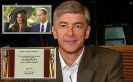 """""""Giáo sư"""" Wenger ký hợp đồng 50 năm với con trai Hoàng tử William"""