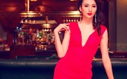 Hoa hậu Ngọc Diễm gợi cảm với sắc đỏ
