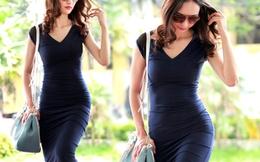 Ngọc Diễm khoe đường cong gợi cảm với váy bó sát
