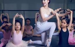 Yến Trang đáng yêu trong lớp học ballet