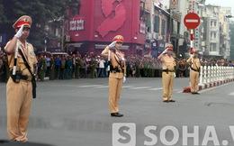 Hình ảnh đặc biệt của Đội CSGT trong Quốc tang Đại tướng