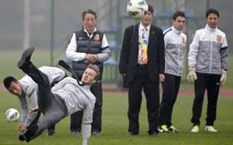 Ti toe thể hiện tài đá phạt, Beckham bẽ mặt tại Trung Quốc