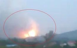Clip: Nổ kho thuốc pháo hoa rung chuyển trăm nhà dân ở Phú Thọ