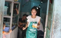 Hoàng Quyên phục vụ quán ăn bình dân