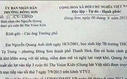 Quang Anh vô địch do công văn Phường Đông Sơn, Sở GDĐT Thanh Hóa?