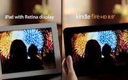 Kindle Fire HD rẻ hơn iPad Retina nhưng chất lượng ngang cơ