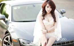 Hằng Na - 'đối thủ' hot girl Mai Thỏ nóng bỏng bên siêu xe Audi