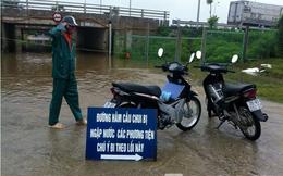 Ảnh, video hầm chui Đại lộ Thăng Long ngập trong nước