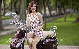 Mẫu Việt tắm nắng cùng Piaggio LXV