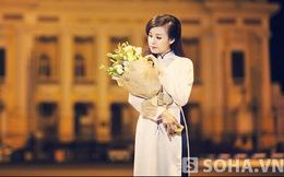 Bà Tưng mặc áo dài