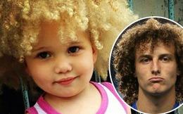 David Luiz khoe ảnh con gái đầu xù giống hệt bố