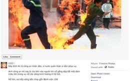 Xúc động với hình ảnh chiến sĩ cảnh sát PCCC liều mình dập lửa