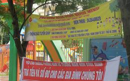 Hà Nội: Chủ nợ kéo băng rôn, loa đài đến trước cổng trường đòi nợ nữ hiệu phó