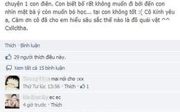 """Nữ sinh cấp 3 Hà Nội gọi giáo viên là """"con điên"""", """"đồ quái vật"""" trên facebook"""