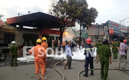 Nguyên nhân gây cháy cây xăng đối diện cổng bệnh viện 108
