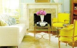 Căn nhà tươi vui với màu ngọc lam và màu vàng