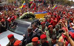 Biển người đưa rước linh cữu cố Tổng thống Hugo Chavez