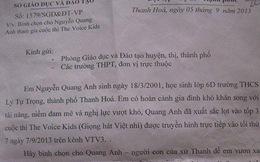 Bình chọn cho Quang Anh: 'Sở GDĐT Thanh Hoá lạm quyền kỳ lạ'