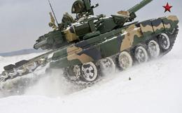 """Xem siêu tăng T-90 của Nga """"cưỡi tuyết"""""""