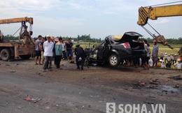 Hà Tĩnh: Xe bồn đè nát xe con, một người thiệt mạng
