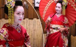 Thụy Vân hóa thân thành nàng Geisha xinh đẹp