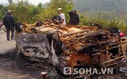Nghệ An: Xế hộp bốc cháy một cách bí ẩn