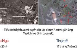 """Bộ Quốc phòng Nga đưa loạt ảnh vệ tinh """"phản đòn"""" Ukraine vụ MH17"""