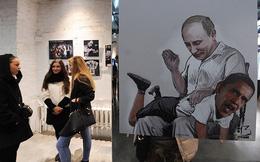 """Nga triển lãm tranh """"Putin đánh đòn Obama"""""""