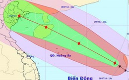 Chiều mai, bão Rammasun giật cấp 14-15 vào vịnh Bắc bộ