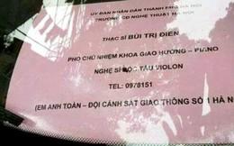 """Xác minh biển """"khoe"""" quan hệ với cảnh sát giao thông Hà Nội"""