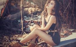 Nữ sinh Huế mê hoặc dân mạng với phong cách bụi bặm gợi cảm