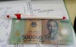 Ghép tiền rách 500 nghìn và 20 nghìn để lừa đảo