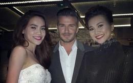 """Thanh Hằng khoe ảnh """"ngoại tình"""" cùng Beckham và Hồ Ngọc Hà"""