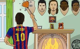 Ảnh chế: Messi treo đầu Neymar