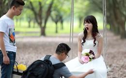 Bức ảnh ngáp vặt cực hài của An Nguy trong bộ cánh cô dâu