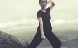 Hot girl Hải Phòng luyện kungfu trên đỉnh núi