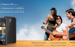 HTC tấn công thị trường giá rẻ với Desire 210 giá 3,2 triệu đồng