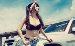 Hani Nguyễn tắm nắng làm lu mờ Mercedes