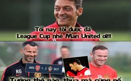 """Ảnh chế: Dám cười Man United, Ozil bị Rooney """"troll"""" lại"""
