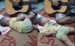 Ông bố trẻ đệm đàn Guitar hát ru con cực cảm động