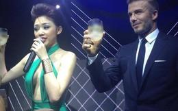 Tóc Tiên diện váy gợi cảm sánh vai cùng Beckham