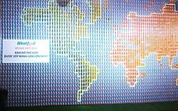 Bản đồ thế giới làm bằng 3.700 vỏ lon lập kỷ lục Việt Nam